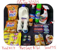 CVS Shopping Trip on 3-15-15