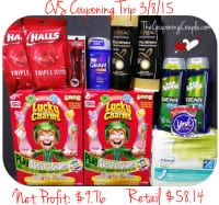 CVS Shopping Trip on 3-8-15
