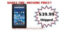 "Fire 7 Tablet with Alexa, 7"" Display, 8 GB, Black - $39.99!"