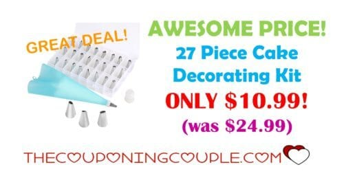 AWESOME DEAL! 27 Piece Cake Decorating Kit ONLY USD10.99!