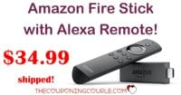 HOT PRICE! Fire TV Stick with Alexa Voice Remote - Only $34.99!