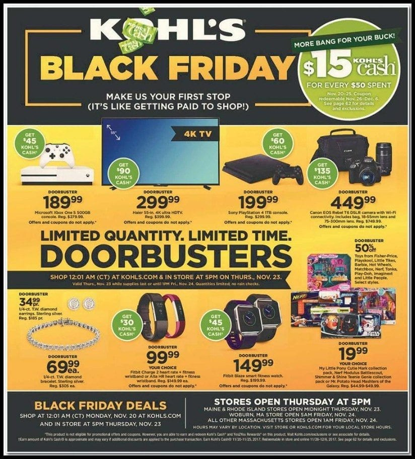 kohls black friday ad pdf