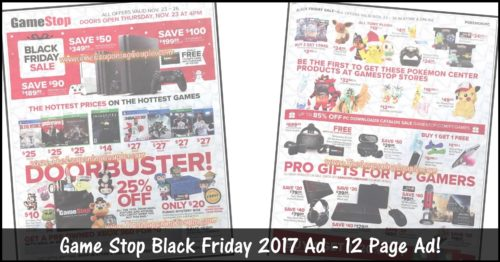 Game Stop Black Friday Ad 2017