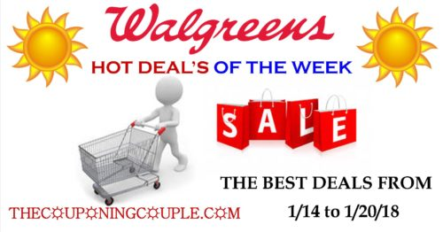 Walgreens Hot Deals list for the Week of 1/14