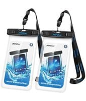 Mpow Universal Waterproof Case Dry Bag for Phones (Clear 2-Pack) - Only $6.89