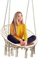 Sorbus Hammock Chair Macrame Swing - Only $52.99 (reg $99.99)