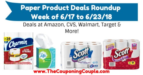 Paper Product Deals Roundup for the Week of 6-17