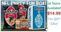 Party Fun! Tostitos Nfl Chips & Dips Party Box - 24 Teams Available! Only $14.99!