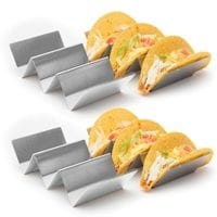 4 Pack - Stylish Stainless Steel Taco Holder Stand  - ONLY $16.68 Shipped!