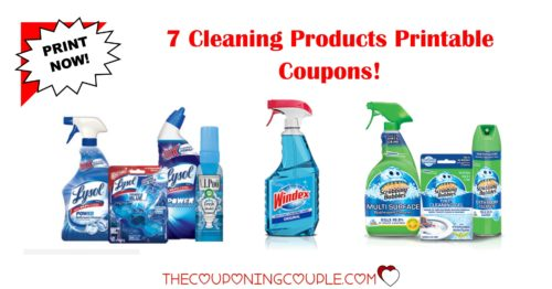 7 cleaning product printable coupons
