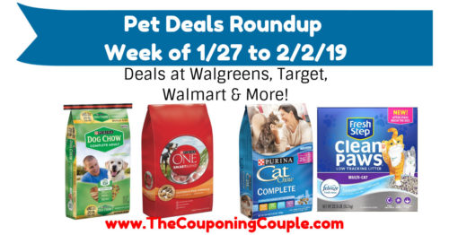 Pet Deals Roundup for the Week of 1-27